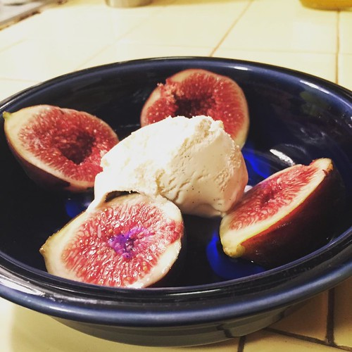 When life (friends actually) gives you figs, light them on fire with 151 and serve them with ice cream. | by Lucky Mike Rocks