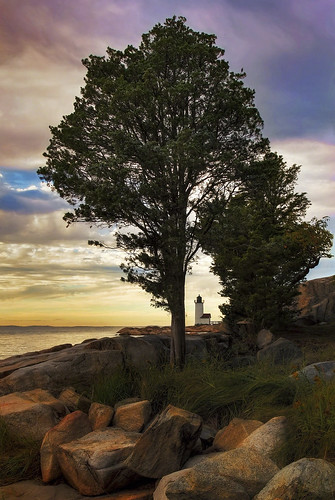lighthouse light cloud beach ocean atlantic evening massachusetts outdoor tree sunset