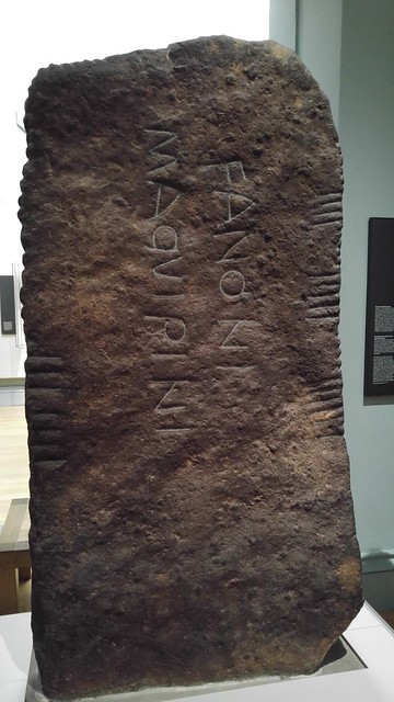 Inscription in Latin and Ogham