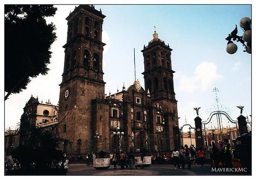 Explanada del Teatro principal de Puebla
