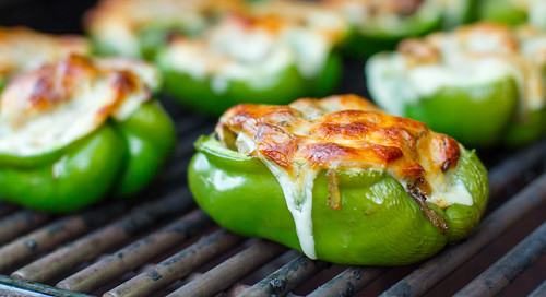 Grilled Cheesesteak Stuffed Peppers | by Another Pint Please...