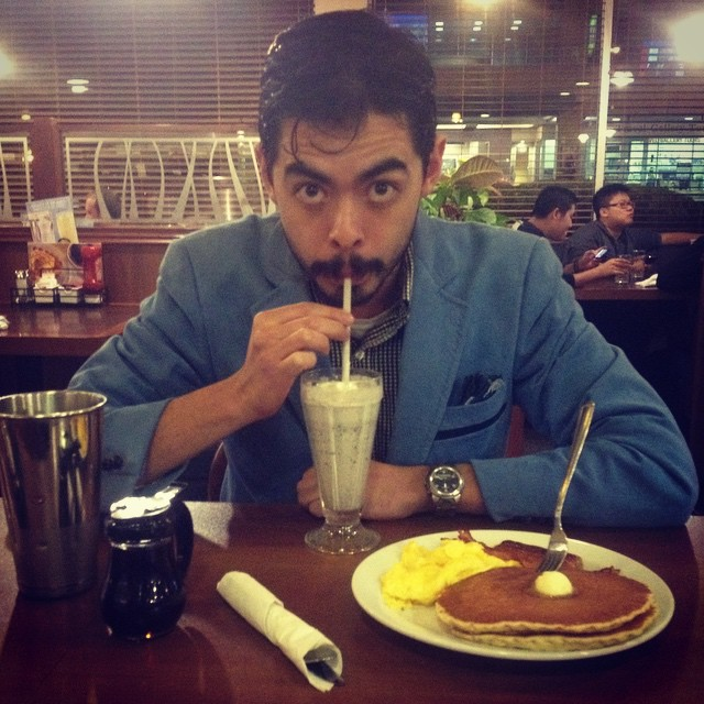 #Midnight #Birthday #GrandSlam & #OreoShake @ #Denny's