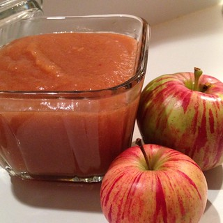 From Leelanau apples foraged in the wild to sauce. Yum!