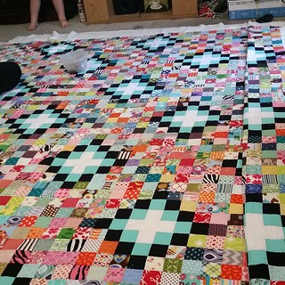 Pinning my #scrapvomit today. I'm almost delirious that I'll be quilting this sucker tonight.