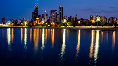 longexposure blue chicago water night landscape illinois cityscape nightscape lakemichigan greatlakes f16 fujifilm manual fujinon starburst lightroom reallyrightstuff 2014 bh55 apsc xt1 dfine2 jasoncarpenter tvc33 xf23mmf14r