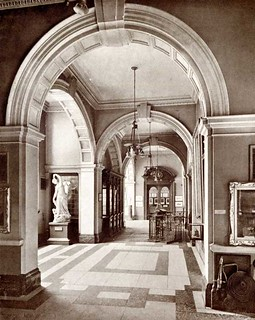 The entrance hall of the Laing Art Gallery, about 1916