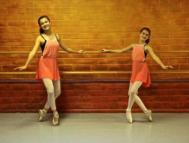 Two Young Ballet Dancers En Pointe - Studio Photo-shoot - In Explore