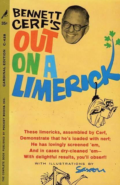 Cardinal Books C-428 - Bennett Cerf - Out on a Limerick