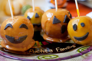 caramel coated jack o' lantern caramel apples | by PersonalCreations.com