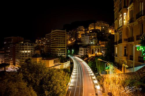 road city light france car night french landscape lights long exposure riviera cityscape sony voigtlander trails monaco carlo monte 21mm ultron a7r