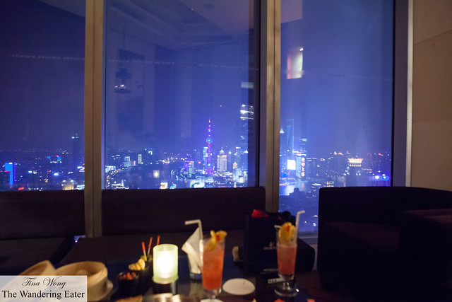 The view of The Bund from where I sat (in our private room in the bar)
