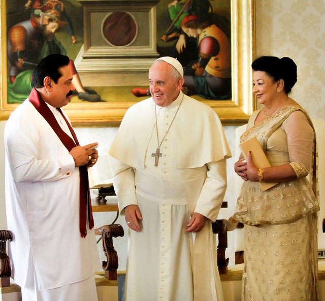 President Rajapaksa has an audience with Pope Francis
