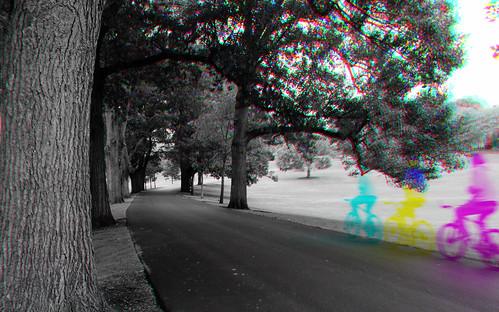 thiopheneguy originalworks harrisshuttereffect harris shutter colour colors colours rainbow color surreal thsfeset harrisshutter movement blur dynamism motion olympusxz1 xz1 oakdrive oct2014 composite bicycle