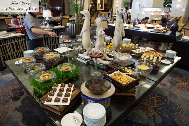 Afternoon tea buffet spread