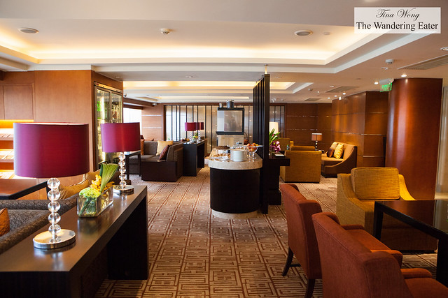 Inside the exclusive Club Lounge