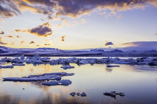 sunset ice iceland iceberg jökulsárlón