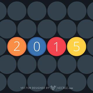 2015 retro new year | by vecree.com