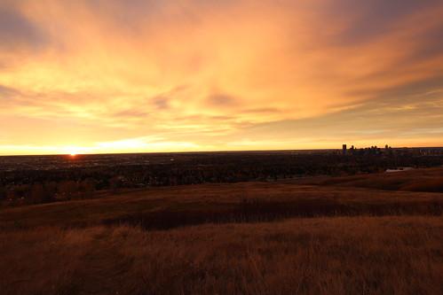 calgary fall sunrise nose hill 2014