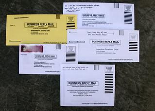 Prepaid envelops | by Judith E. Bell
