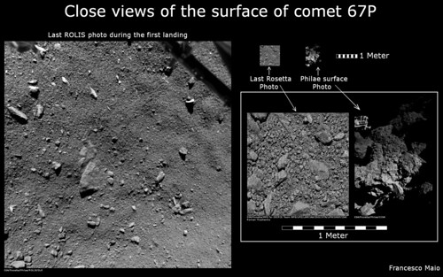 Close vieus of the surface of the comet 67P | by spock1108
