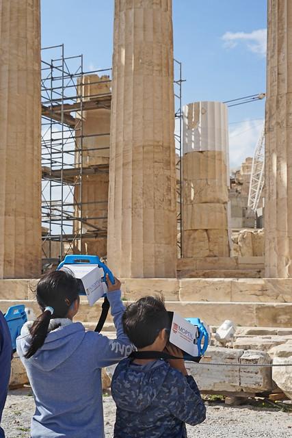 Nouveaux modes de visite de l'Acropole (Athènes)