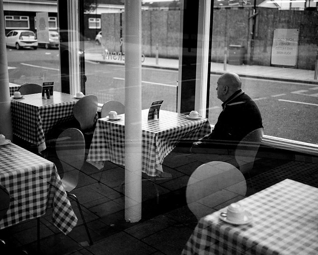 A Lonely Man In A Chip Shop - South Shields