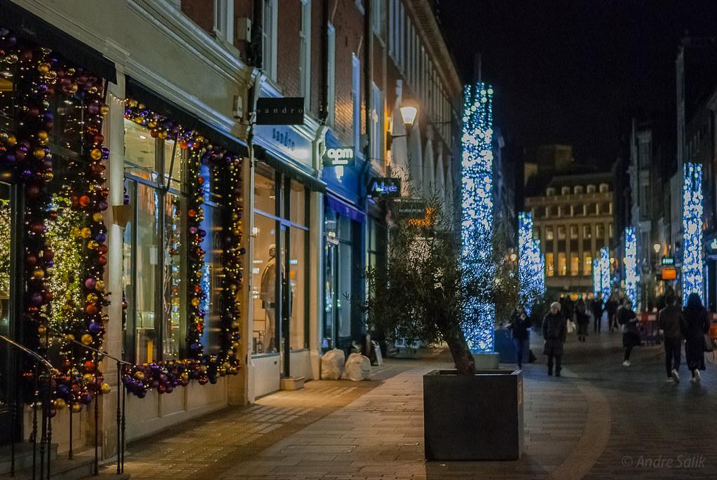 про ночной рождественский Лондон