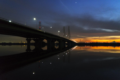 a7ii alpha7ii sonya7ii alphaa7ii sonyalpha7ii sonyalphaa7ii sony toda saitama japan bridge dusk sunset