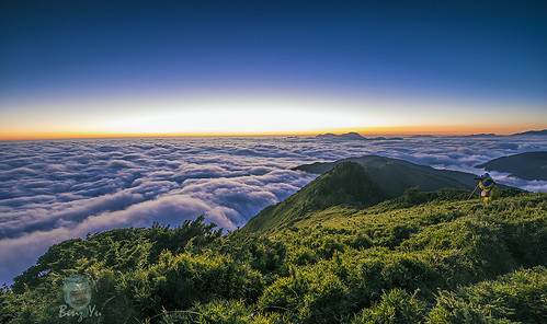夕陽 日落 風景 合歡山 雲海 晨昏 色溫