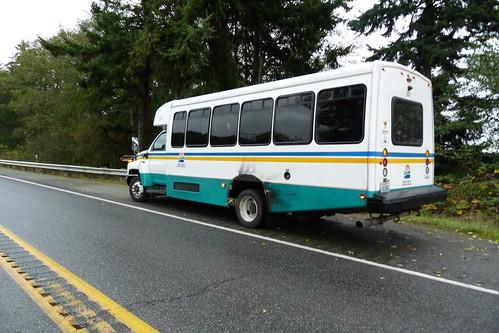 An Island Transit Bus Banged Up...