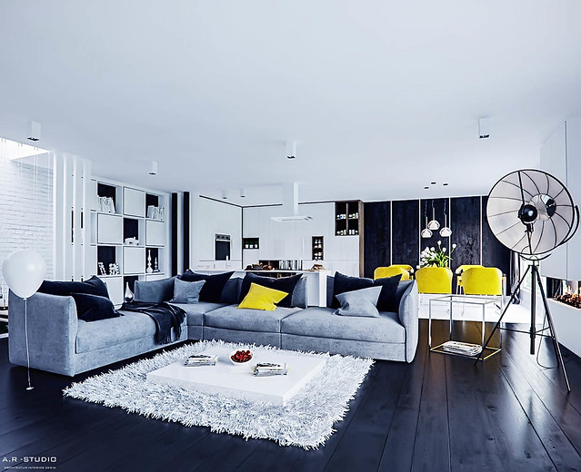 Apartment Interior Ideas With Yellow Color Furniture