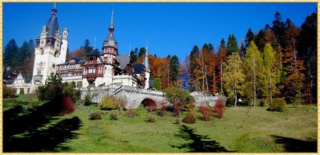 Golden autumn at Peles Castle - 2