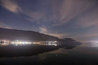Lac du Bourget de nuit, France | by Chris Llers