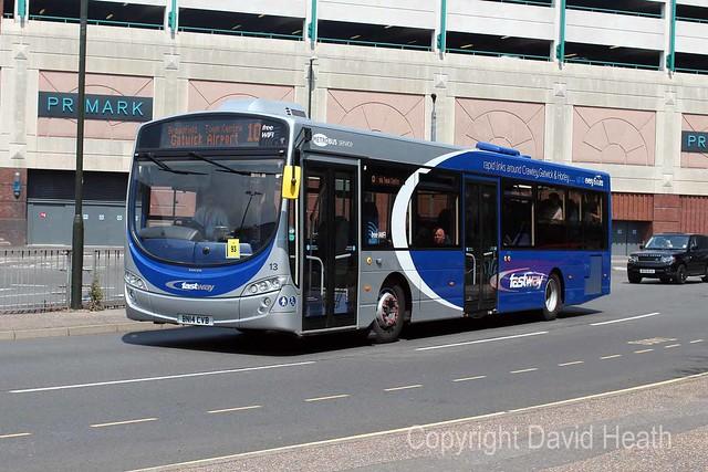 Metrobus 013 BN14CVB  Crawley 26-07-2014  E1438