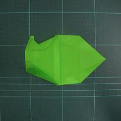 การพับกระดาษเป็นรูปแรด (Origami Rhino) 020