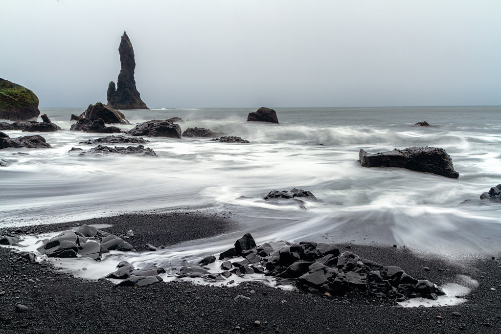 The black sand beach of Vik, Iceland.