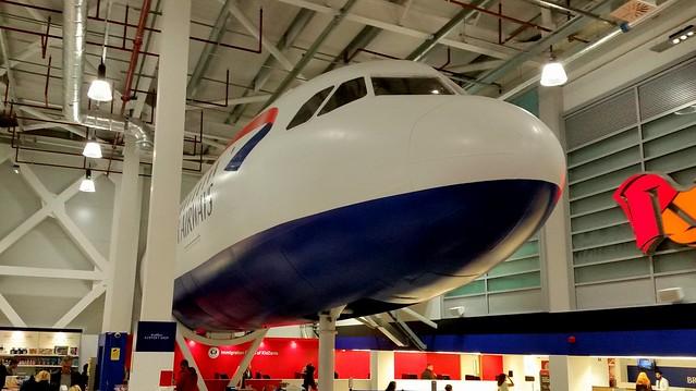 Airbus A319-112 c/n 1305 ex Meridiana Fly in fake British Airways colours registration EI-DFA fuselage in use as