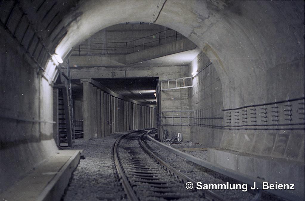 München 03 1971 U Bahnhof Marienplatz Strecke Tunnel Richt