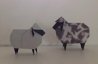 sheep   by paper folding artist redpaper