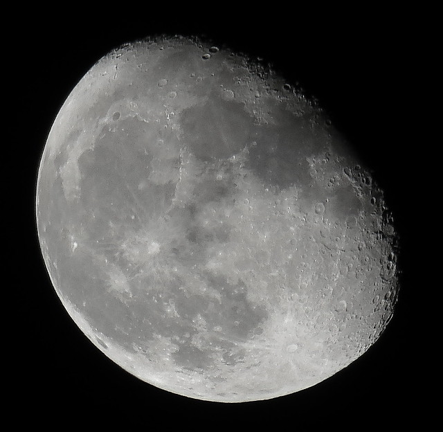 Canon SX60 HS Sample Image of the Waning Gibbous, 83% of the Moon is Illuminated IMG_1953