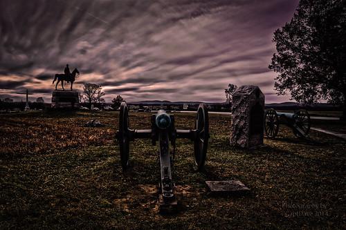 3rd US Artillery Cemetery Ridge Gettysburg, PA HDR