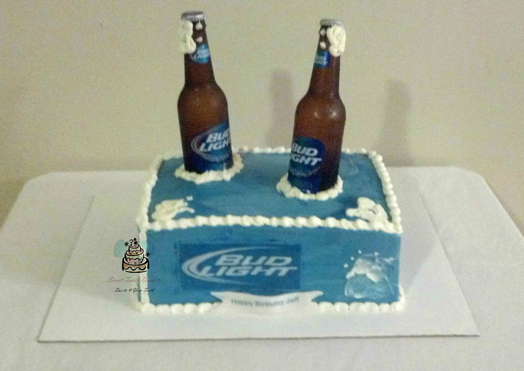 Admirable Budlight Birthday Cake Bud Light Birthday Cake 1 4 Sheet Flickr Funny Birthday Cards Online Elaedamsfinfo