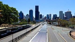Victoria Bridge South Brisbane, G20 lock down phase