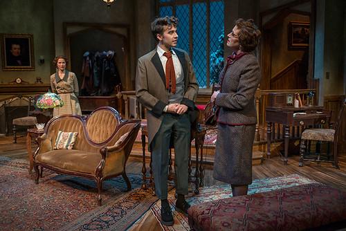 (L-r) Cora Vander Broek (Mollie Ralston), Joey deBettencourt (Christopher Wren), and Laura T. Fisher (Mrs. Boyle)