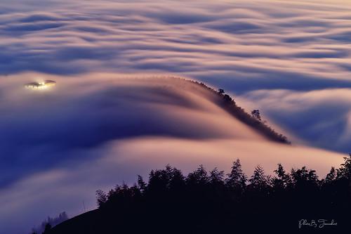 clouds sunset d4s nikon 2470mm taiwan nantou landscape 雲河 teafield