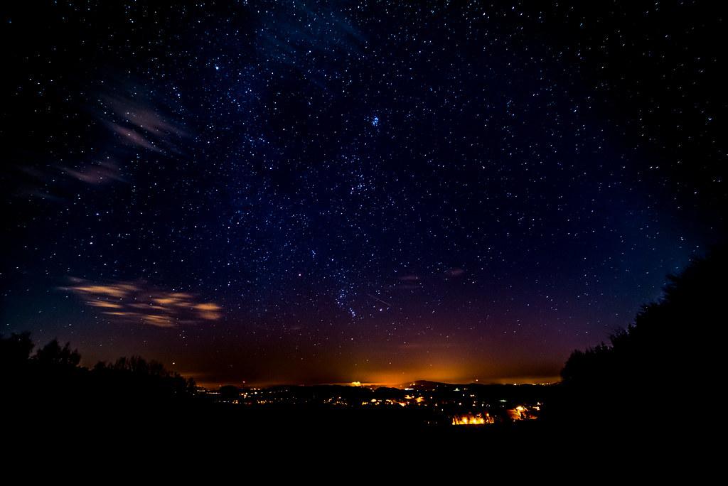 Sternenhimmel heute abend
