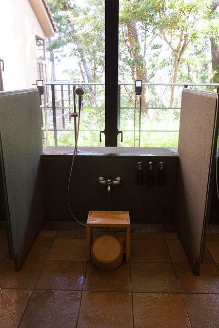 Traditional Japanese washing area