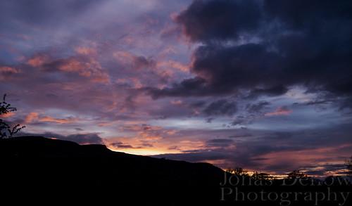pink blue ireland sunset sky beautiful silhouette clouds evening epic jonasdellowphotography