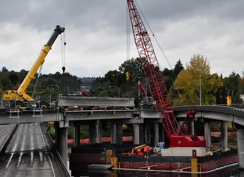 "The demolition of the R.H. Thomson ""Ramps to Nowhere"" has begun 