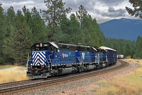 railroad train montana mt bnsf mrl freighttrain sd45 emd thompsonfalls montanaraillink mrl'sfourthsubdivision hkckspo